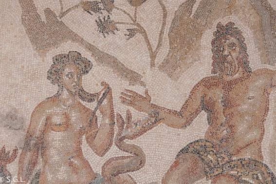 Mosaico Polifemo y Galatea en Alcazar Reyes Cristianos. Cordoba