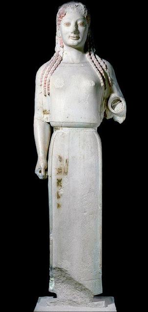 The Peplos Kore Acropolis Museum, Athens, Greece