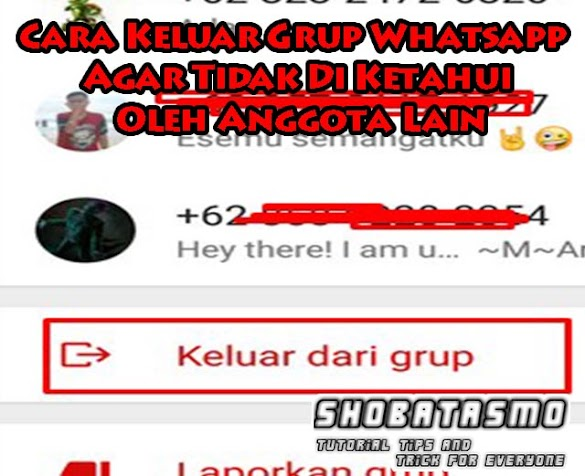 Cara Keluar Grup Whatsapp Biar Tidak Di Ketahui Oleh Anggota Lain