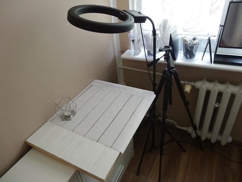 lampa pierścieniowa 40W, tło Printea