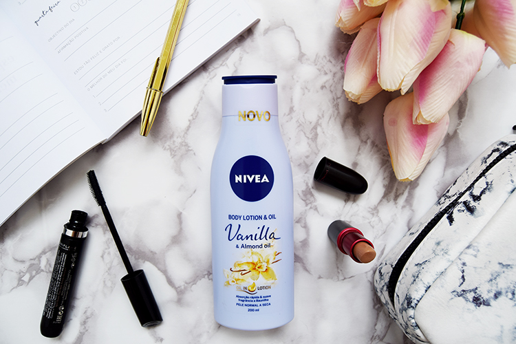 nivea body lotion oil vanilla