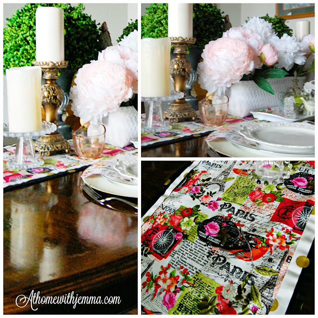 Create-DIY-Simple-Table-Runner-Handmade-At Home With Jemma