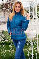 Geaca dama turquoise • Ade