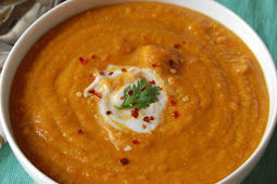 MOROCCAN CARROT RED LENTIL SOUP