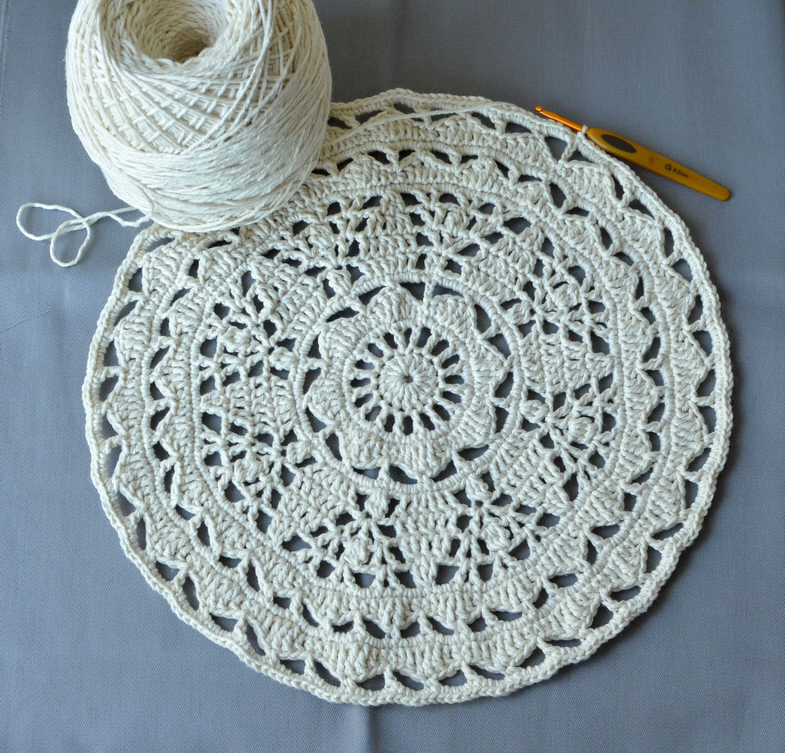 The end of my Lace Adventure – White Tea Doily Rug   LillaBjörn\'s ...