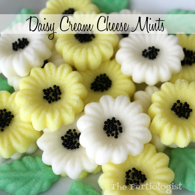 The Partiologist: Daisy Cream Cheese Mints!