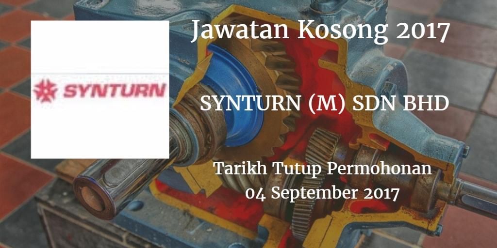 Jawatan Kosong SYNTURN (M) SDN BHD 04 September 2017