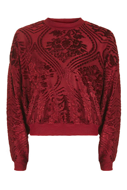 red velvet jumper