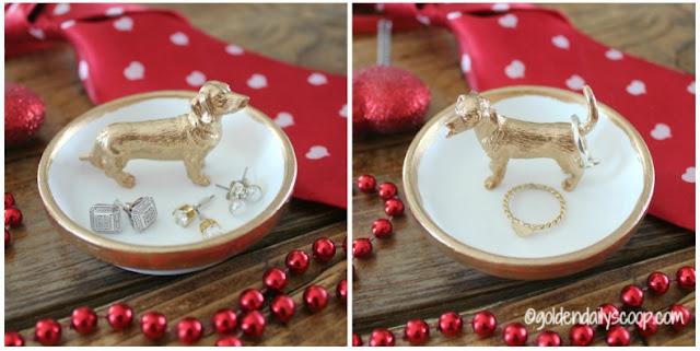 dachshund dog ring holder Valentine gift