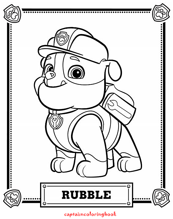 best paw patrol coloring pages printable  coloring page