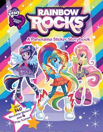 MLP Equestria Girls: Rainbow Rocks Panorama Sticker Storybook Book Media