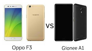 Oppo F3 vs Gionee A1