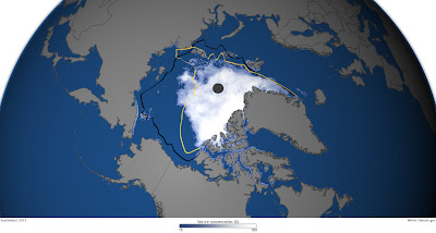 Arctic continues to break records in 2012