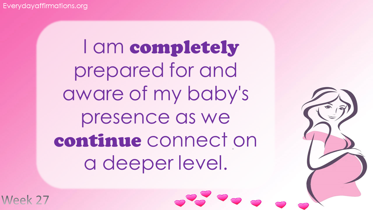 Positive Pregnancy Affirmations Second Trimester - Week 27