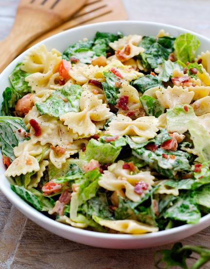 BLT Pasta Salad #salad #dinner