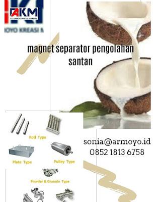 magnet separator santan kelapa