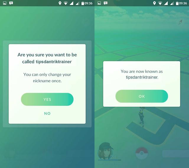 Cara Ganti Nickname Pokemon GO Terbaru