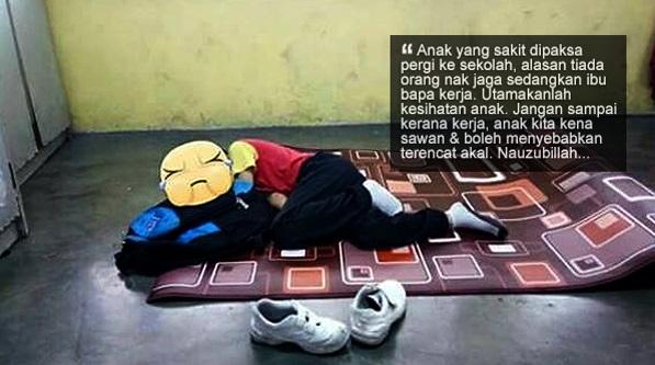 'Jangan sampai kerana kerja, anak kita kena sawan' - Guru tegur ibu bapa hantar anak ke sekolah walaupun sakit