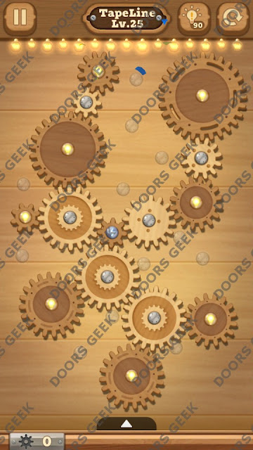 Fix it: Gear Puzzle [TapeLine] Level 25 Solution, Cheats, Walkthrough for Android, iPhone, iPad and iPod