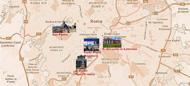 Sobre as quatro basílicas papais em Roma