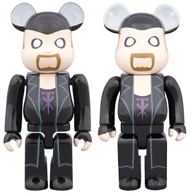 WWE The Undertaker 100% & 400% Be@rbrick Vinyl Figures by Medicom