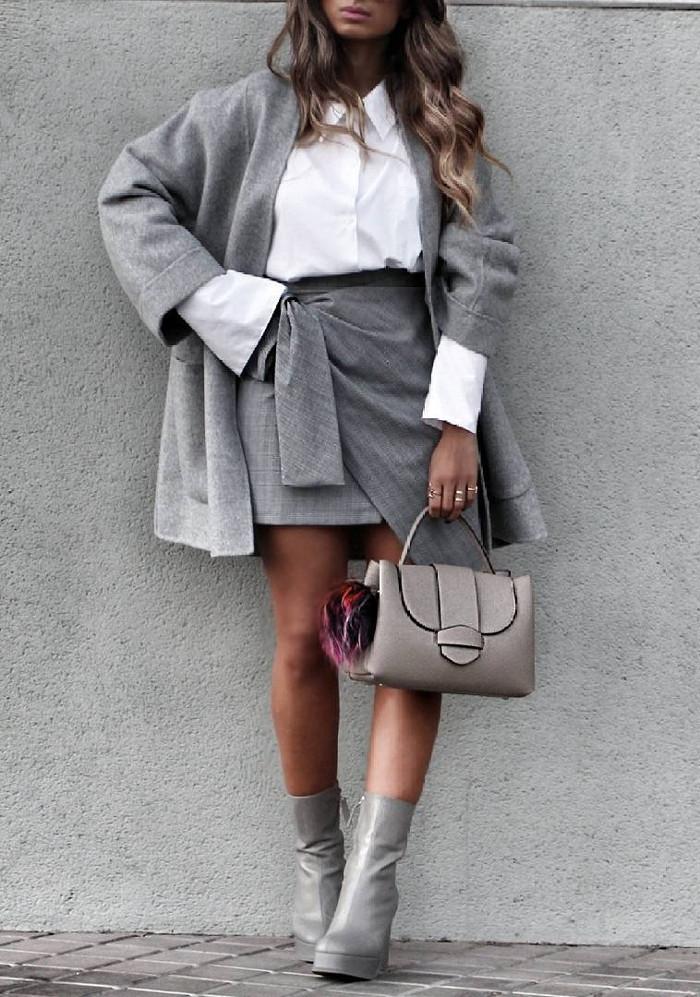 grey + white