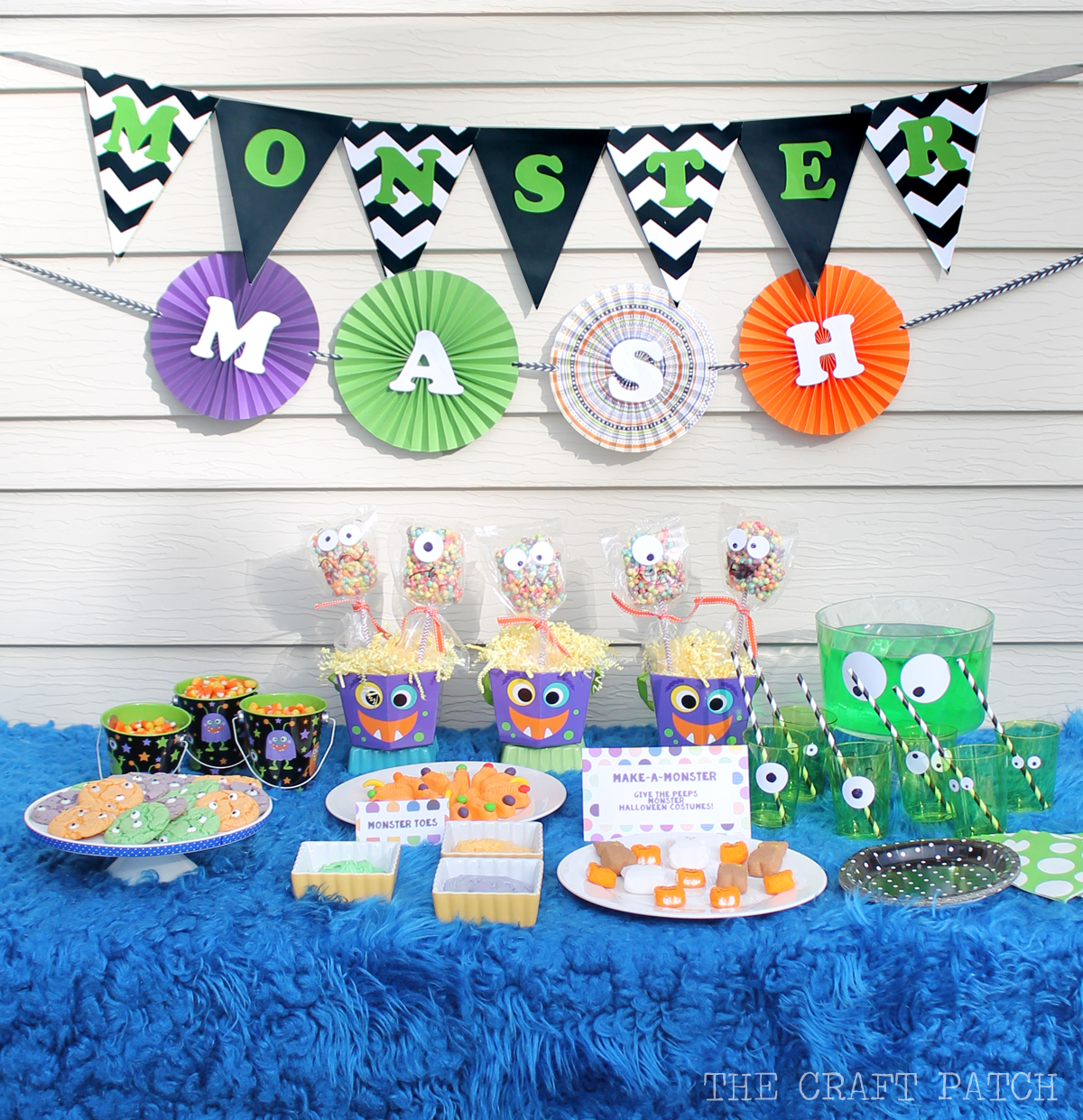 Halloween Theme Party.Easy Monster Cookies