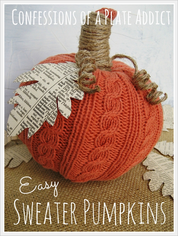 book page Sweater Pumpkins