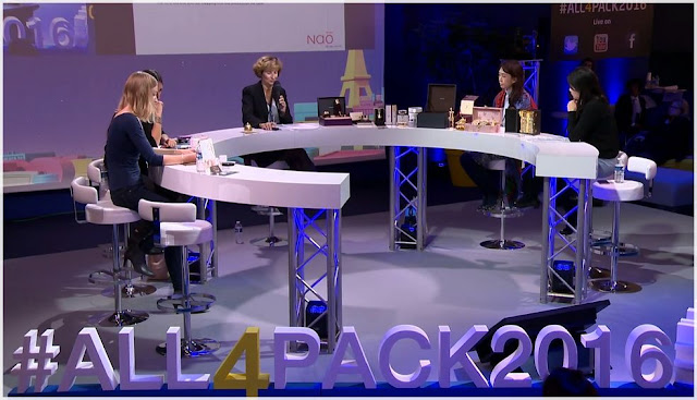 Le blog sur le Plateau TV All4pack - K Beauty - Caroline Moulin NAO Design, Sylvie de France, LG Care - Blog Beauté Les Mousquetettes
