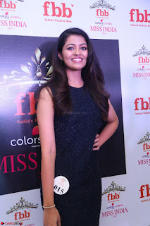 Model Shreya Kamavarapu in Short Black Dress at FBB Miss India 2017 finalists 047.JPG