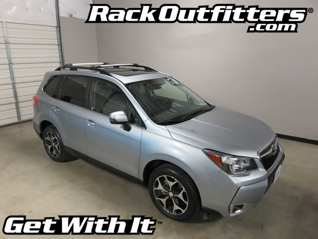 Subaru Forester Rhino Rack Vortex Stealthbar Silver Base
