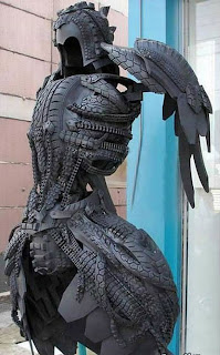 armadura feita de pneu reciclado