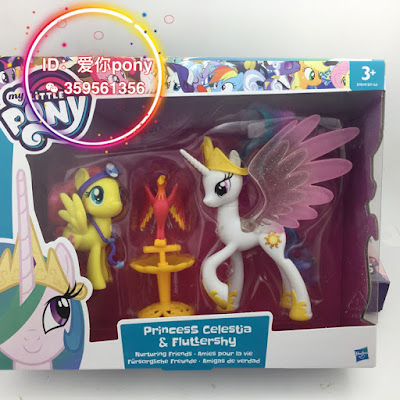 Nurturing Friends Celestia Fluttershy Philomena Brushable 2016
