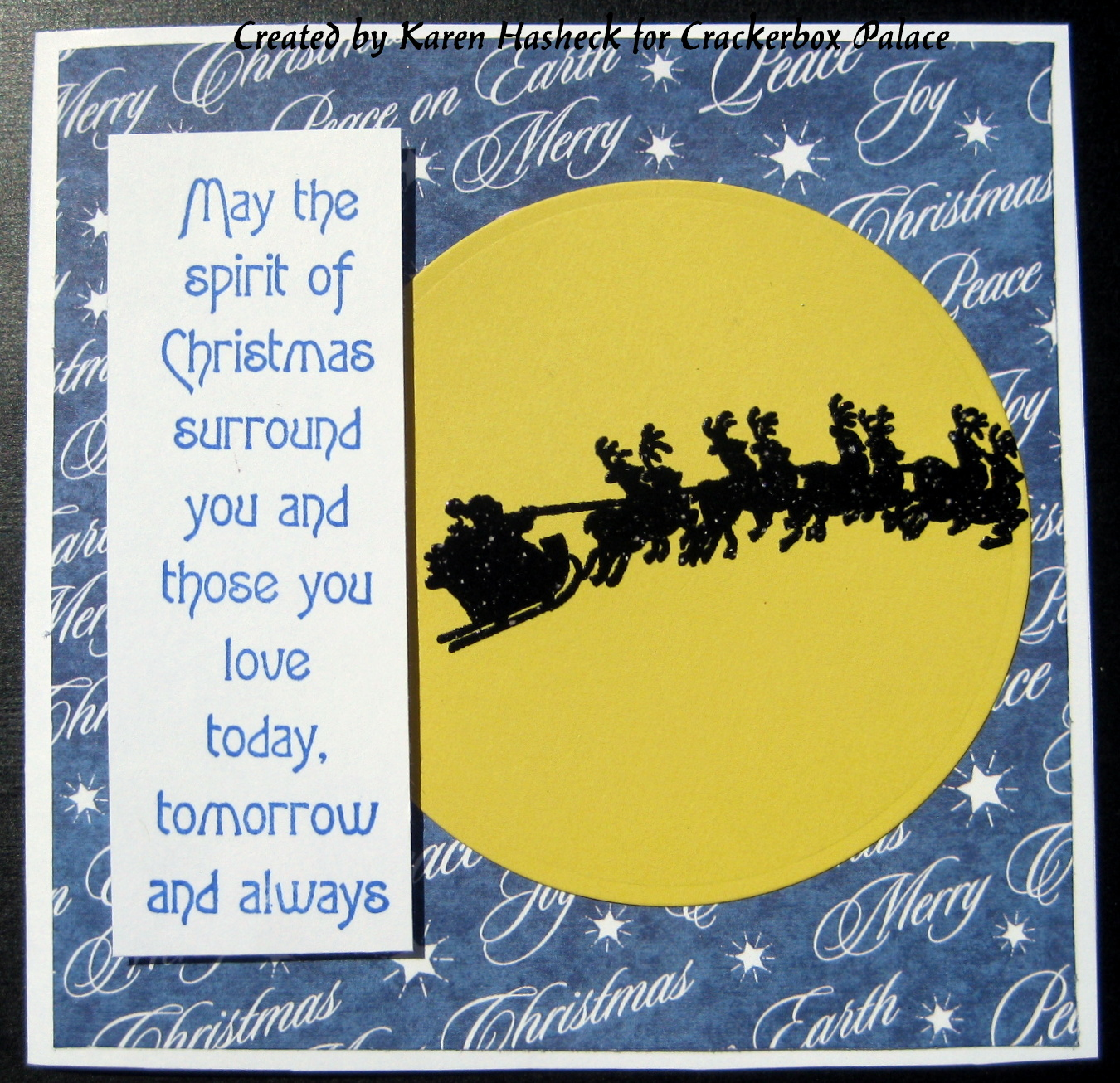 Crackerbox Palace Rubber Stamp Blog Christmas Silhouette