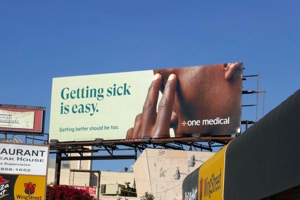 Getting sick is easy One Medical billboard