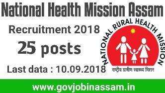 National Health Mission Assam Recruitment 2018,nhm recruitment,govjobinassam