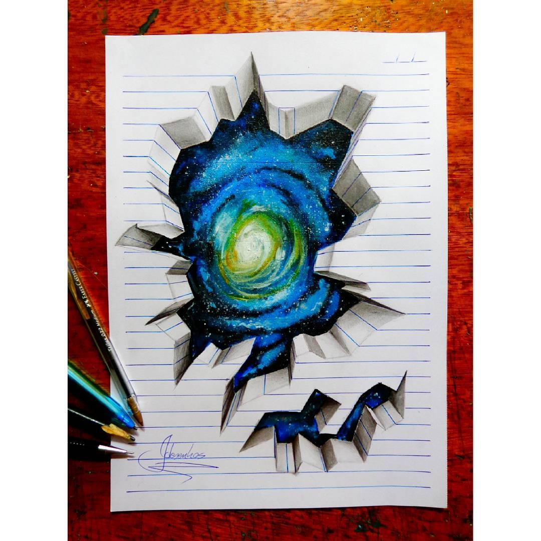 18-The-Universe-João-A-Carvalho-Drawing-and-Painting-3D-Optical-Illusions-see-the-Video-www-designstack-co