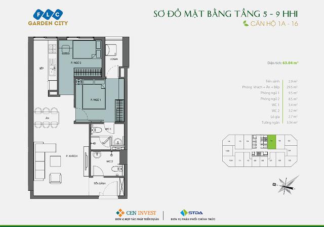 Thiết kế căn hộ 1A & 16
