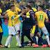 Rio 2016: le mauvais geste de Neymar qui provoque une bagarre générale (Vidéos)