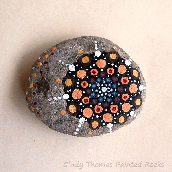 Cindy Thomas Painted Rock Mandala 1