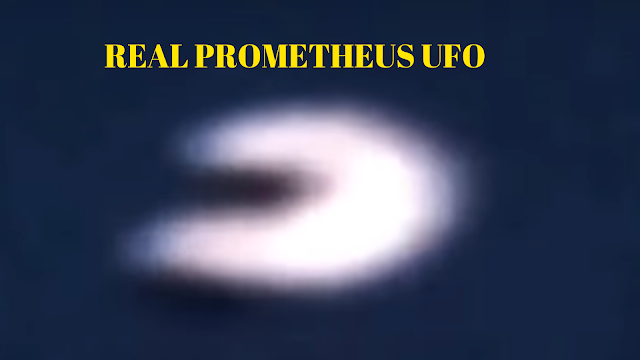 UFO that looks like the Prometheus movie spaceship.