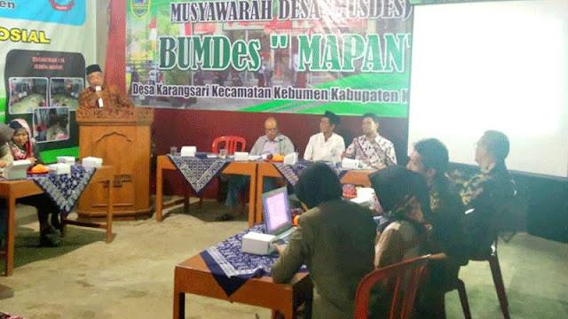 Kecamatan Kebumen Bakal Bangun Badan Usaha Antar Desa, BUMDes Mapan Jadi Percontohan