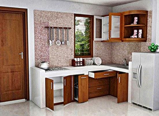interior desain dapur kecil mungil minimalis terbaru 2016