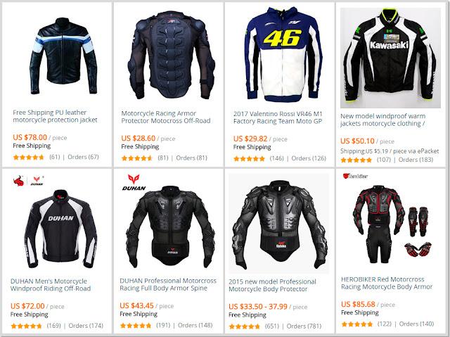 Casacos para motociclistas AliExpress