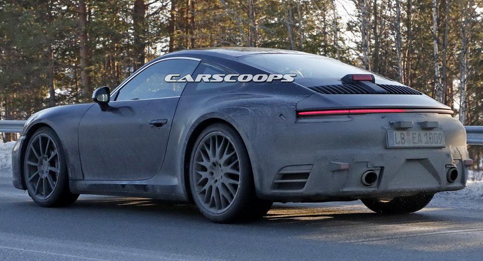 2019 Porsche 911 Spy Shots Highlight Its Mission E Inspired Bottom