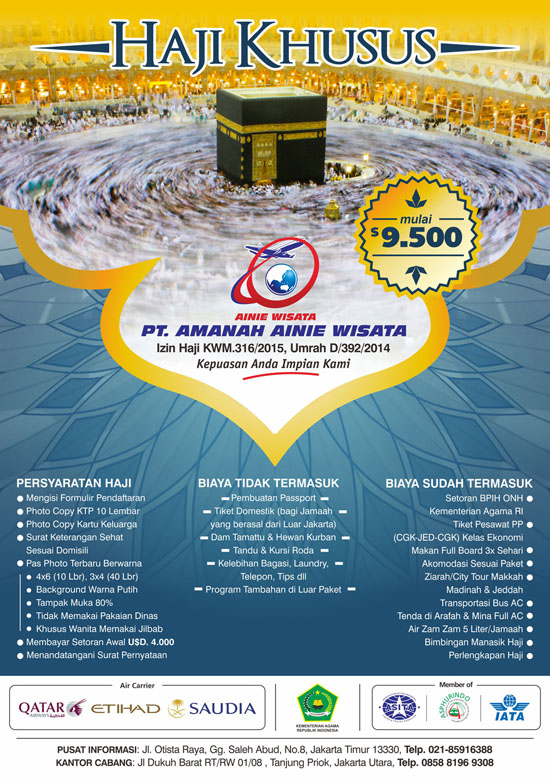 Paket Haji Khusus Ainie Wisata Tour Travel Pt Amanah
