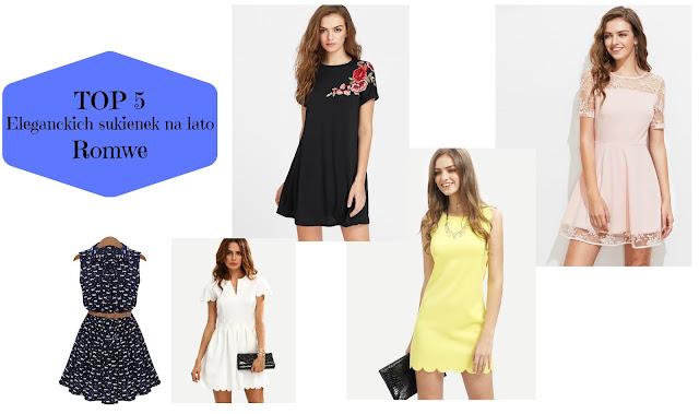 TOP 5: Eleganckich sukienek na lato | Romwe