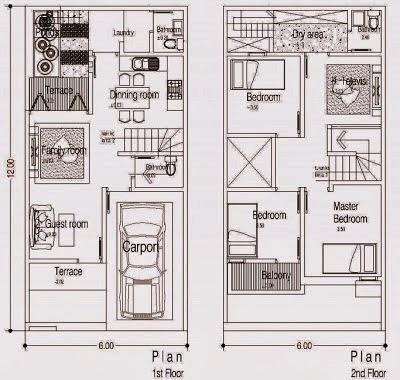 contoh denah rumah sehat - gambar rumah minimalis 2014