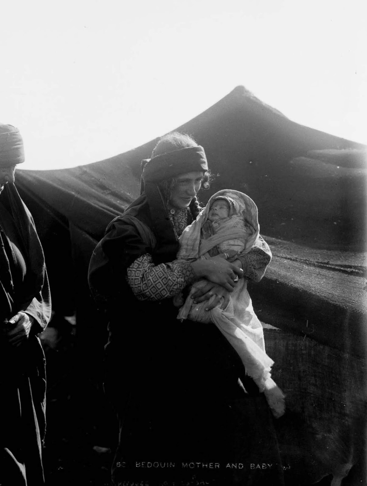 A Bedouin woman and her child.