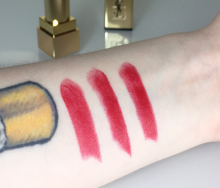 YSL Rouge Rock lipstick swatches